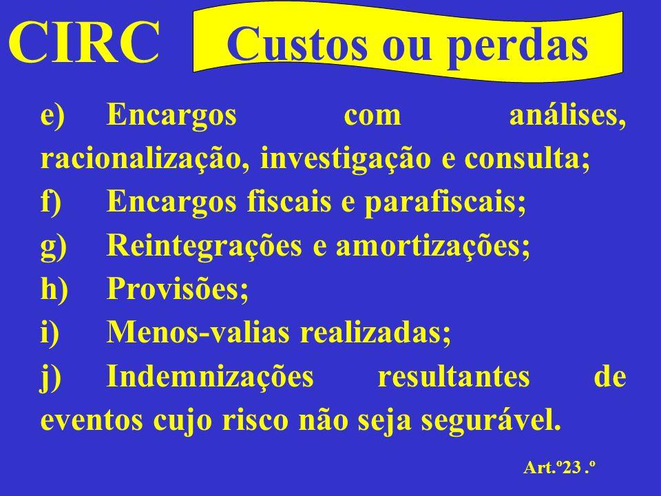 CIRC Art.º23.º Custos ou perdas 2 -Não são aceites como custos as despesas ilícitas, designadamente as que decorram de comportamentos que fundadamente indiciem a violação da legislação penal portuguesa, mesmo que ocorridos fora do alcance territorial da sua aplicação.