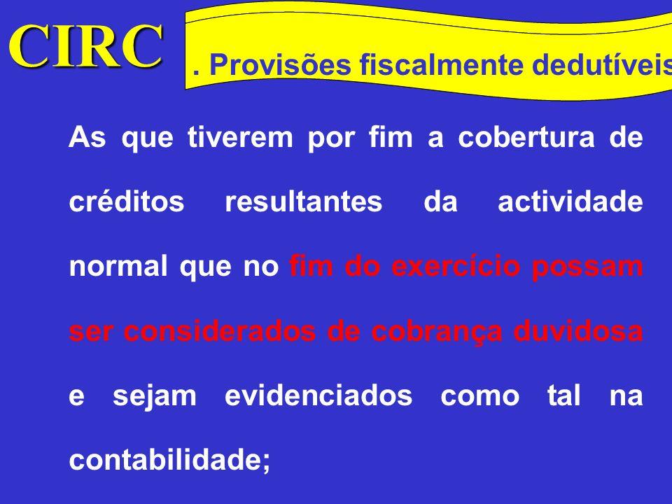 CIRC Conceitos Método das quotas degressivas.