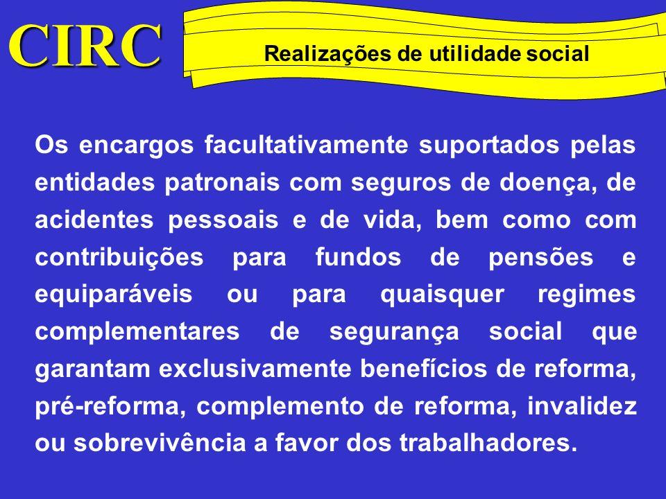 CIRC Conceitos Método das quotas degressivas Estatuto do Mecenato Dec.