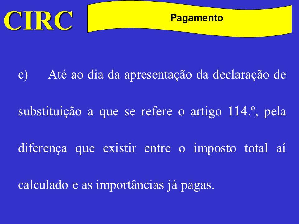 CIRC C Pagamento