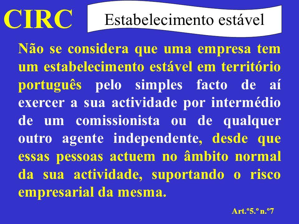 CIRC Art.º6.º Transparência fiscal Objectivos Para efeitos de IRC, as sociedades de pessoas têm tratamento idêntico às sociedades de capitais sendo-lhes, todavia, aplicado um regime especial de tributação designado de transparência fiscal.