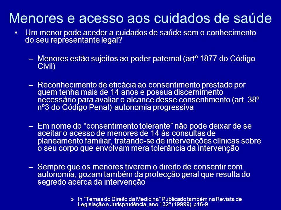 Lei nº 120/99- garantias de acesso à saúde reprodutiva – Cap.