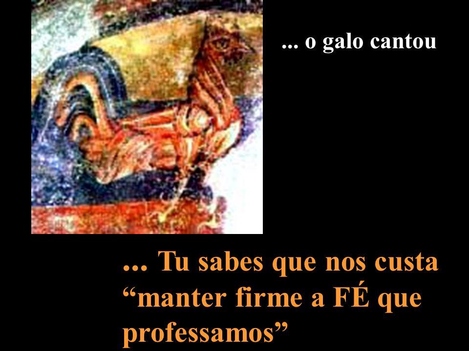 Pedro disse: «não sou»... Suportaste a negação do teu primeiro colaborador, para expiar as nossas culpas...