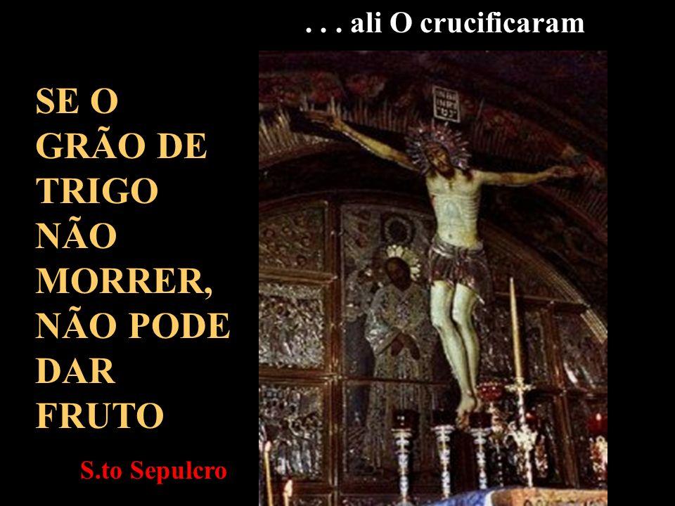 Levando a cruz, Jesus saiu para o chamado lugar do Calvário Pelos sofrimentos aprendeste a OBEDECER Via dolorosa