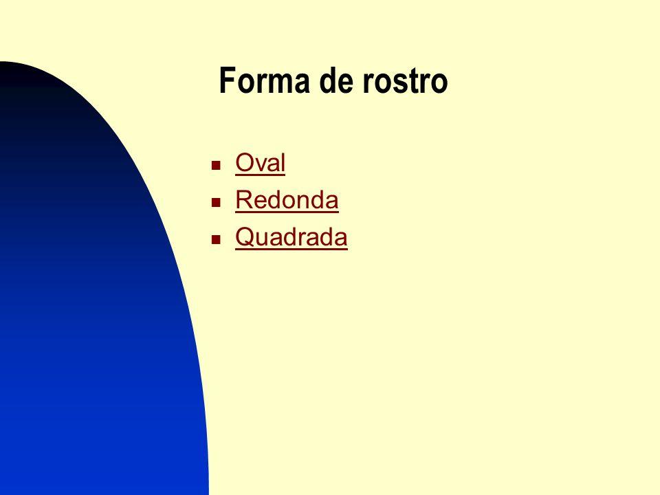 Forma de rostro Oval Redonda Quadrada