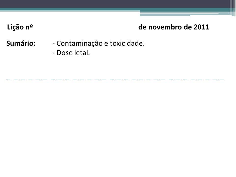 Lição nº de novembro de 2011