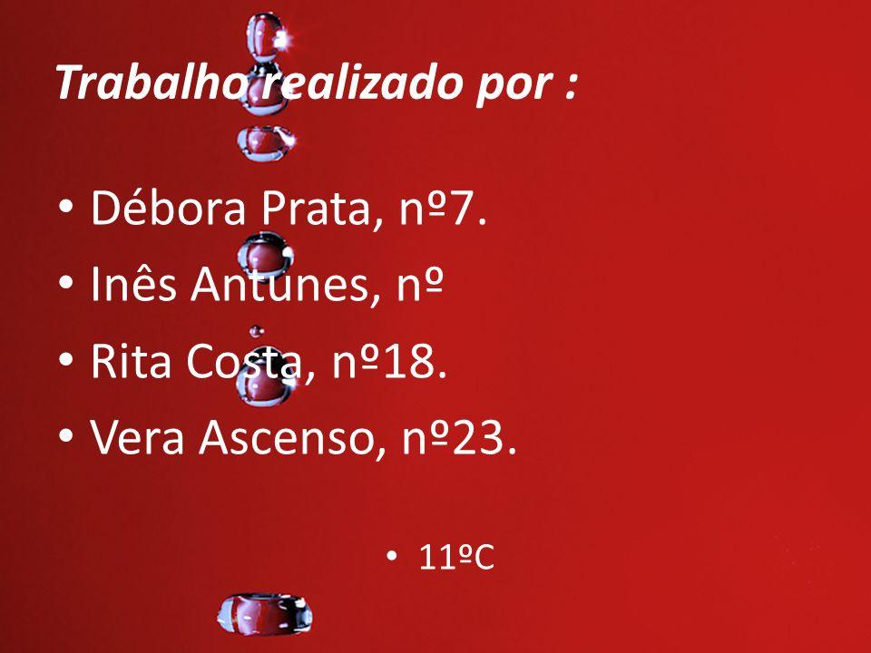 Trabalho realizado por : Débora Prata, nº7. Inês Antunes, nº Rita Costa, nº18. Vera Ascenso, nº23. 11ºC