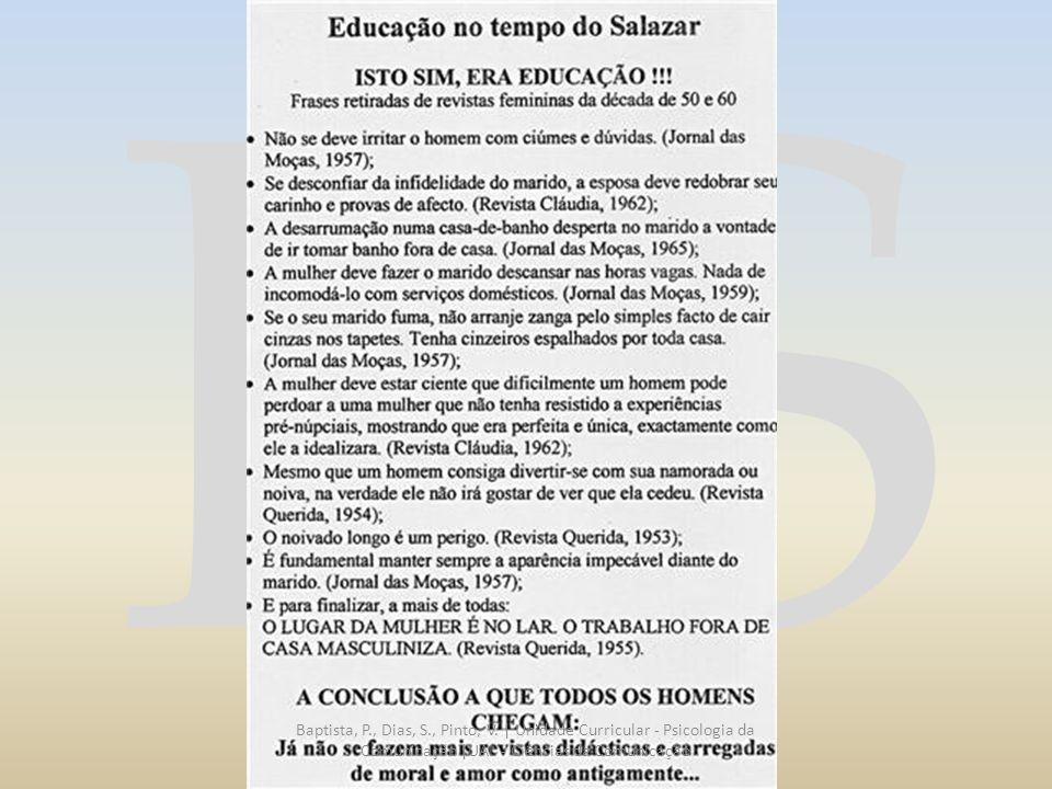 RS Baptista, P., Dias, S., Pinto, V. | Unidade Curricular - Psicologia da Comunicação |UAL - Ciências da Comunicação