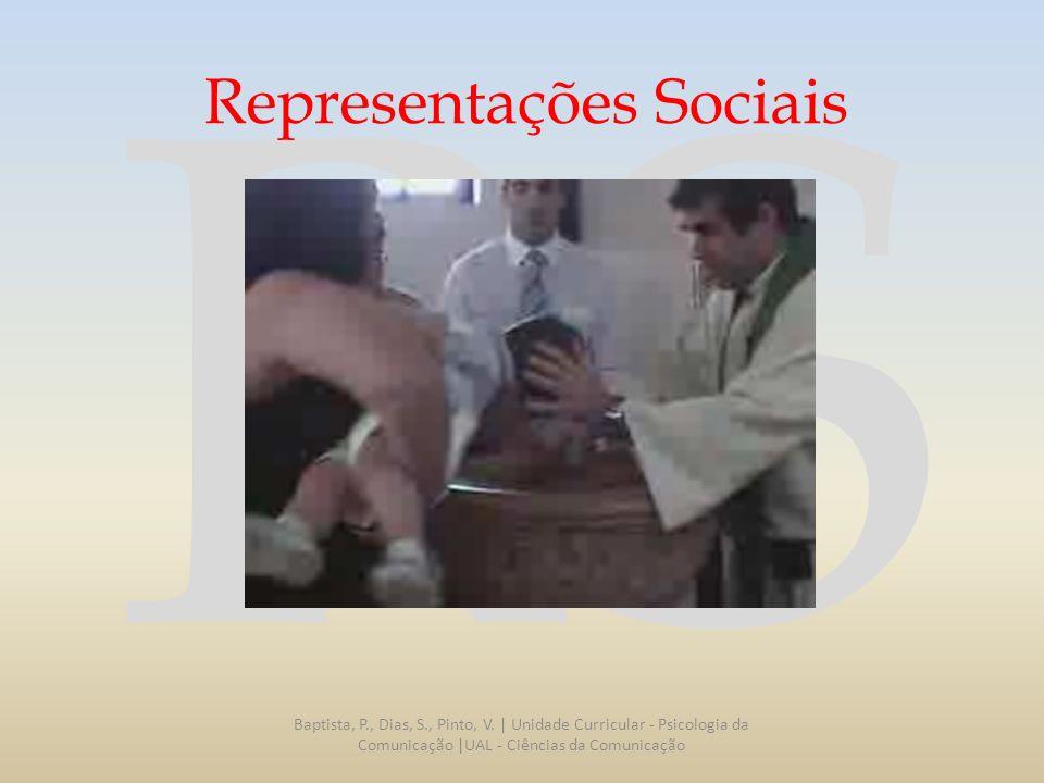 RS Representações Sociais Entende-se por Representação Social os conhecimentos, crenças, e ideias que a sociedade adquire através da interação social e através das quais se constrói uma realidade comum dentro de cada conjunto social.