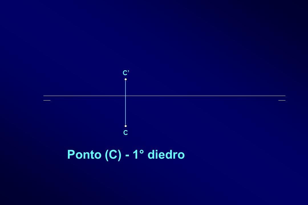 C C Ponto (C) - 1° diedro