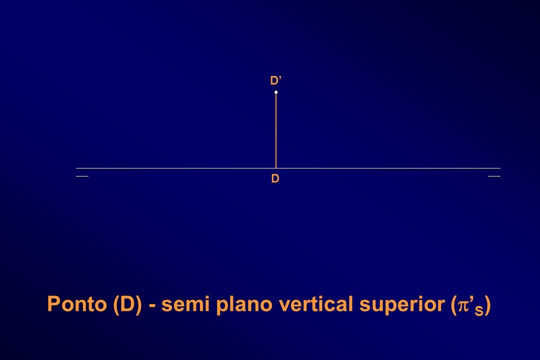 D D Ponto (D) - semi plano vertical superior ( S )
