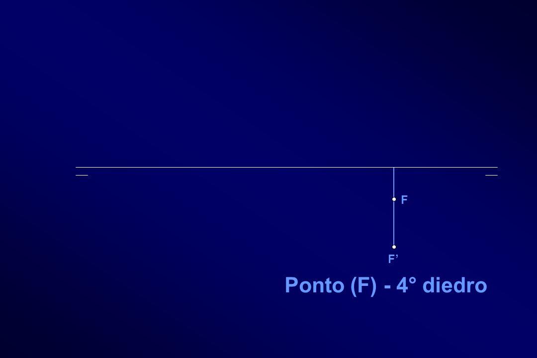 F F Ponto (F) - 4° diedro