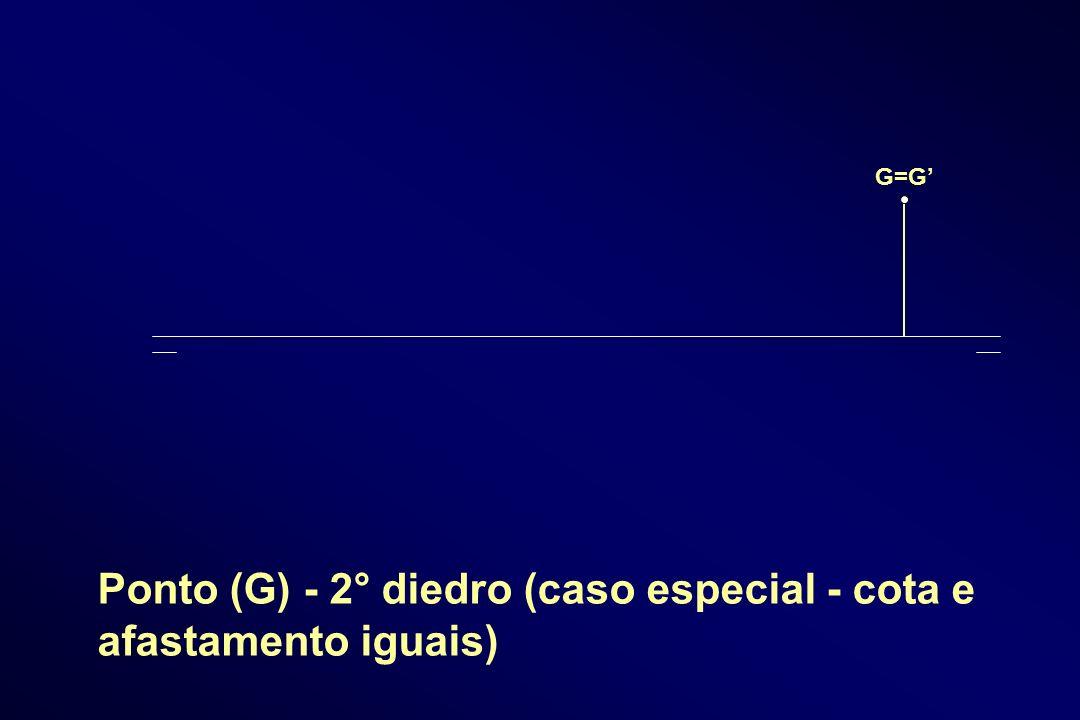 G=G Ponto (G) - 2° diedro (caso especial - cota e afastamento iguais)