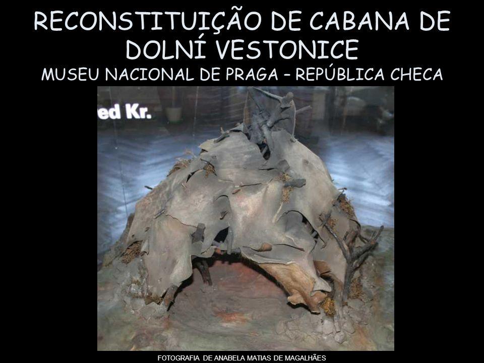 RECONSTITUIÇÃO DE CABANA DE DOLNÍ VESTONICE MUSEU NACIONAL DE PRAGA – REPÚBLICA CHECA FOTOGRAFIA DE ANABELA MATIAS DE MAGALHÃES