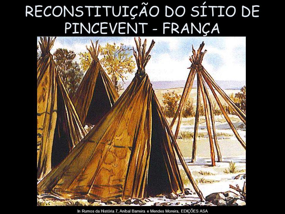 RECONSTITUIÇÃO DO SÍTIO DE PINCEVENT - FRANÇA In Rumos da História 7, Aníbal Barreira e Mendes Moreira, EDIÇÕES ASA