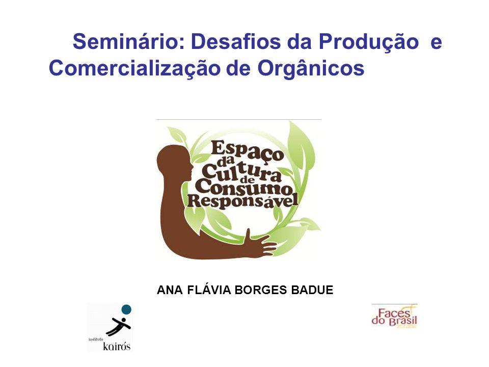 Seminário: Desafios da Produção e Comercialização de Orgânicos ANA FLÁVIA BORGES BADUE