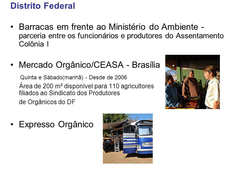 Distrito Federal Barracas em frente ao Ministério do Ambiente - parceria entre os funcionários e produtores do Assentamento Colônia I Mercado Orgânico