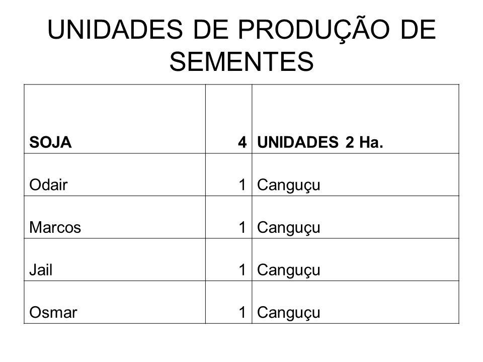 UNIDADES DE PRODUÇÃO DE SEMENTES SOJA4UNIDADES 2 Ha.