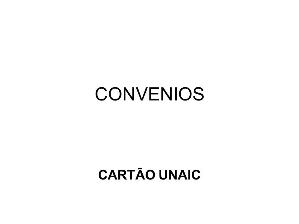 CONVENIOS CARTÃO UNAIC