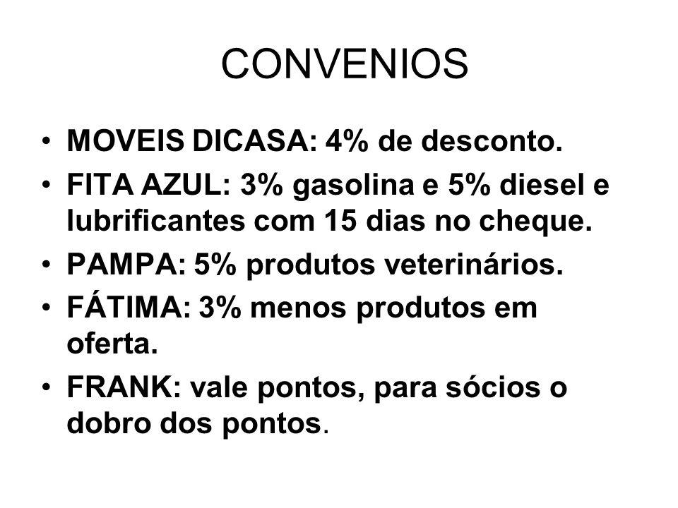 CONVENIOS MOVEIS DICASA: 4% de desconto.