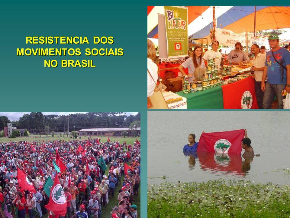RESISTENCIA DOS MOVIMENTOS SOCIAIS NO BRASIL
