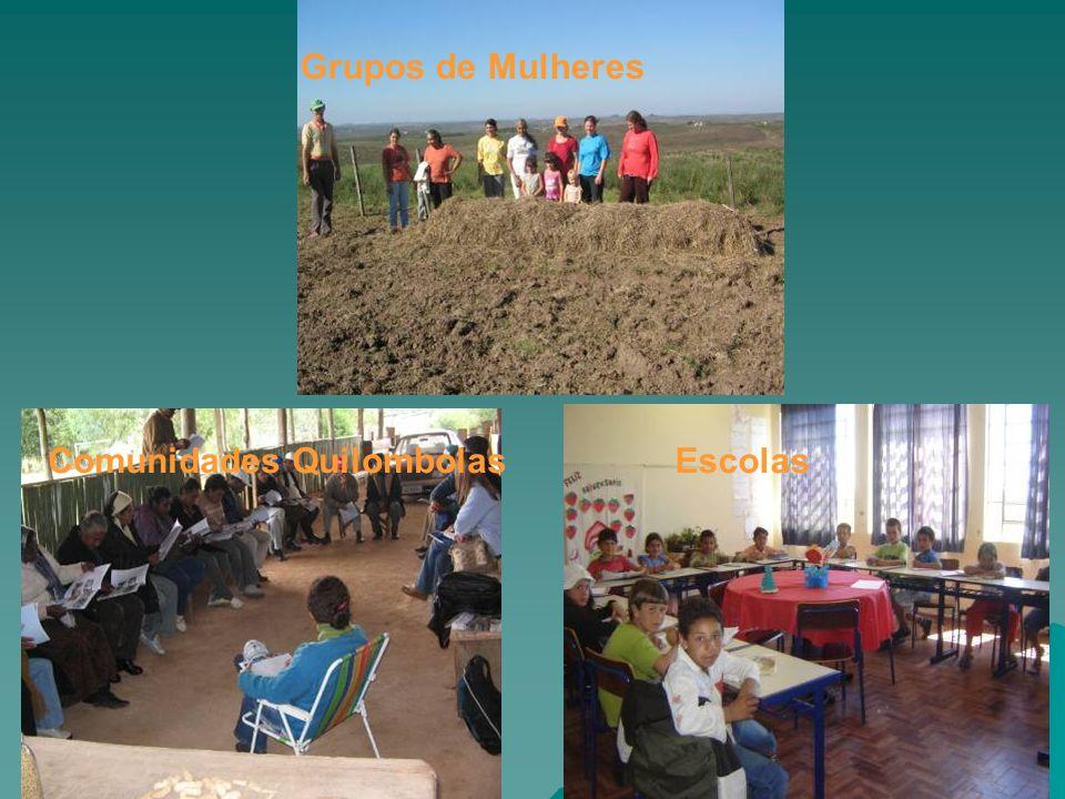Grupos de Mulheres Comunidades QuilombolasEscolas