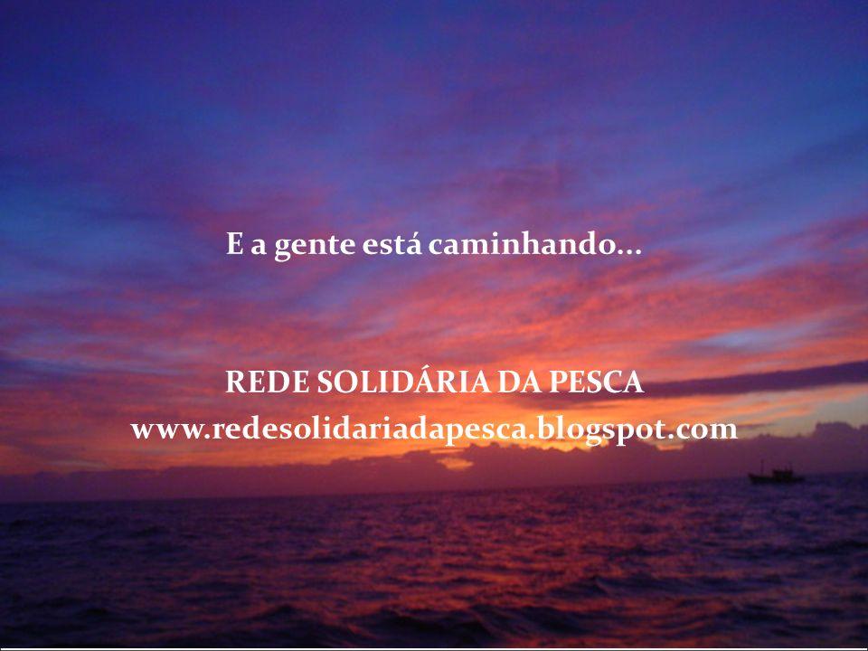 E a gente está caminhando... REDE SOLIDÁRIA DA PESCA www.redesolidariadapesca.blogspot.com