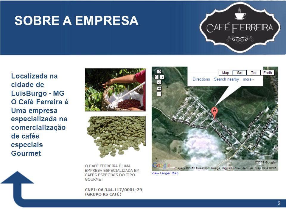 Slide Title to go here SOBRE A EMPRESA Localizada na cidade de LuisBurgo - MG O Café Ferreira é Uma empresa especializada na comercialização de cafés