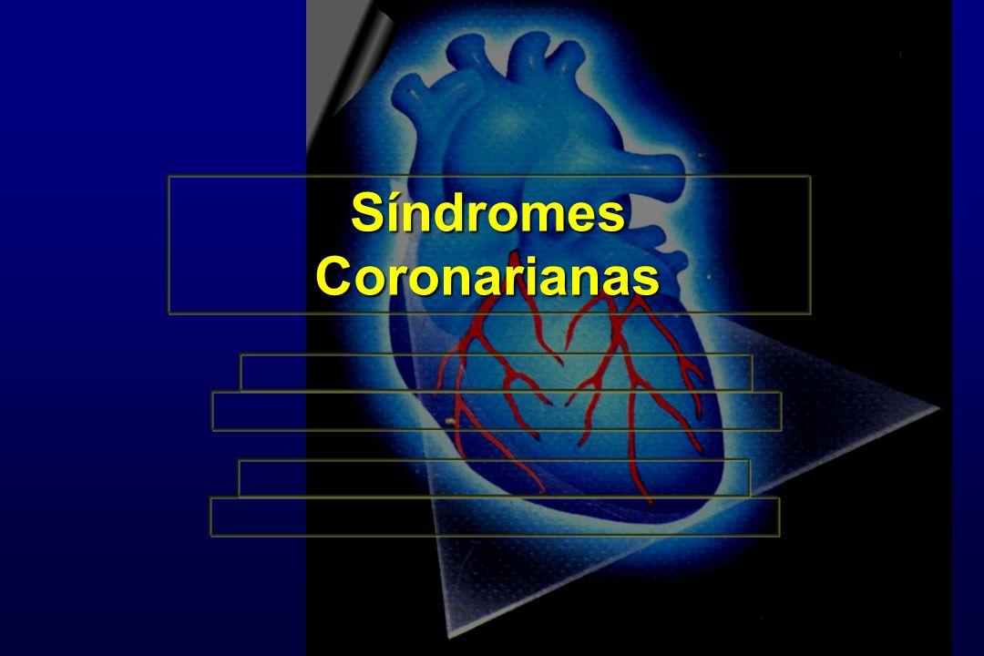 Síndrome Coronariana F IAM É a limitação do fluxo sangüíneo de tal magnitude e duração que leva à necrose do músculo cardíaco
