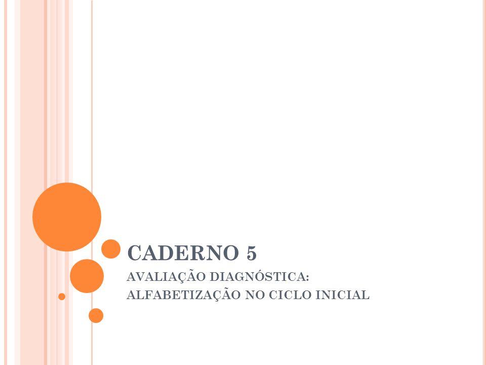 INSTRUMENTO DE AVALIAÇÃO DIAGNÓSTICA A proposta apresenta exemplos comentados de atividades para a avaliação do aluno do CA; Sua elaboração possui duas finalidades: 1.
