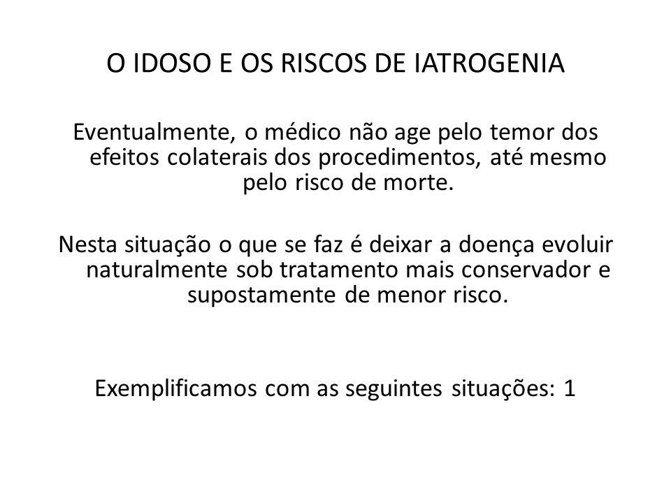 O IDOSO E OS RISCOS DE IATROGENIA 1)paciente com diagnóstico de endocardite infecciosa, recebendo antibioticoterapia apropriada, evoluindo com piora clínica.