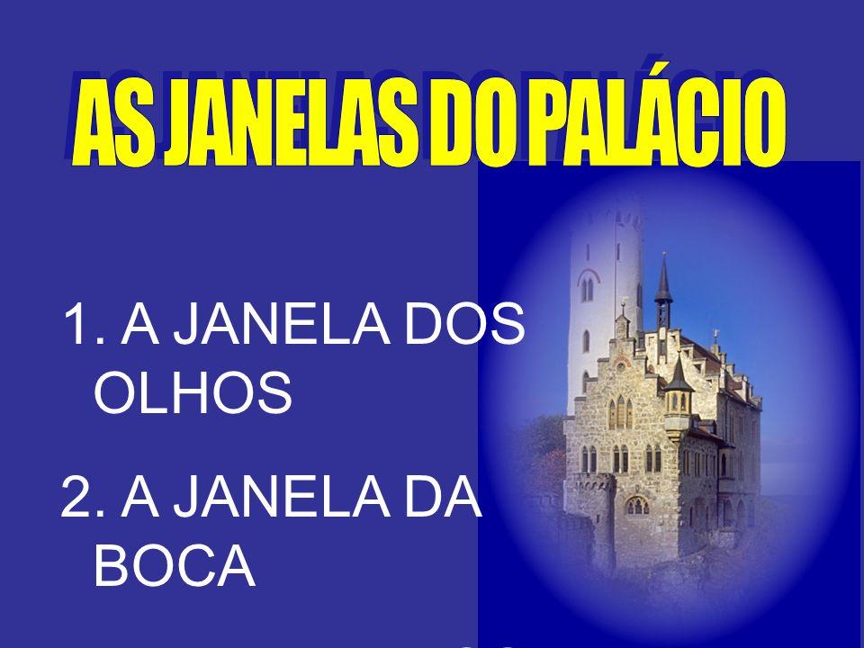 1. A JANELA DOS OLHOS 2. A JANELA DA BOCA 3. A JANELA DOS OUVIDOS