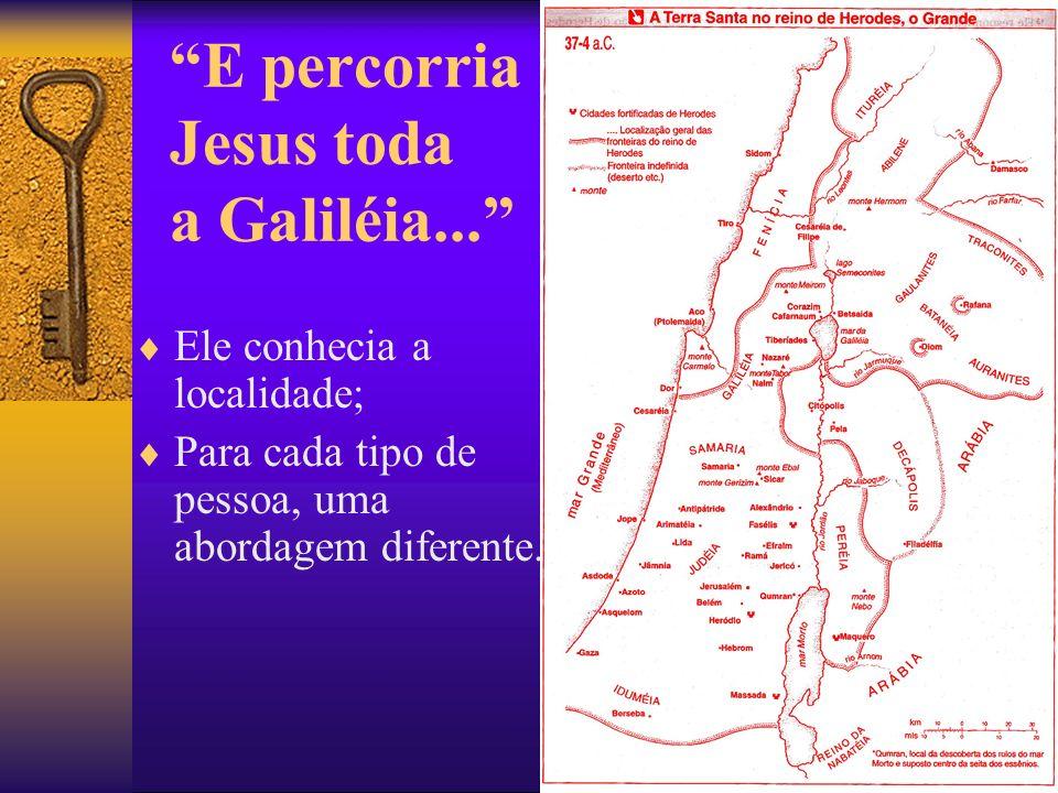E percorria Jesus toda a Galiléia...