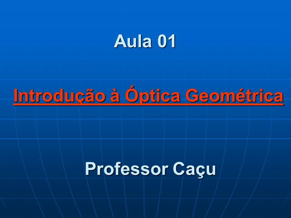 Aula 01 Professor Caçu Introdução à Óptica Geométrica