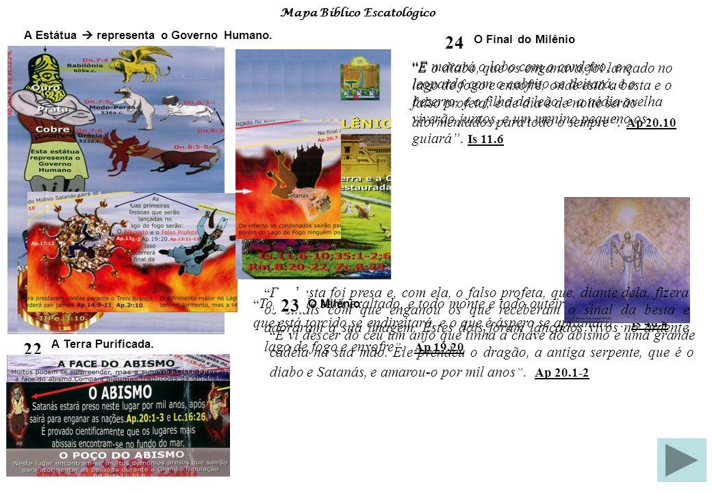 Mapa Bíblico Escatológico Estudo Sistemático da Bíblia Fonte de Pesquisa: 24 – O Final do Milênio No milênio a Terra e a Criação estarão restauradas.