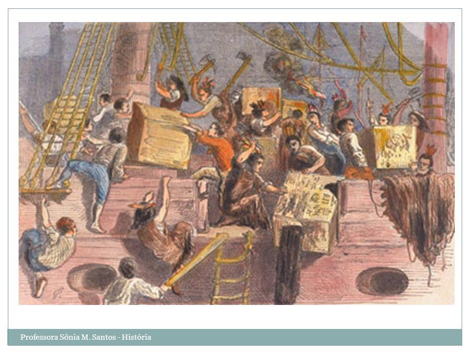 INDEPENDÊNCIA – AMÉRICA INGLESA DECLARAÇÃO DE INDEPENDÊNCIA Os colonos reagiram às pressões do governo inglês gerando conflitos: 1774 – primeiro congresso continental : a colônia suspendeu o comércio com a Inglaterra.