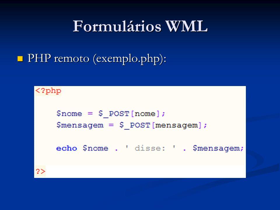 PHP remoto (exemplo.php): PHP remoto (exemplo.php):