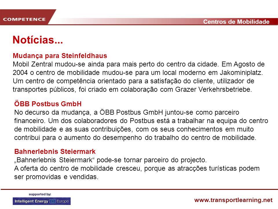Centros de Mobilidade www.transportlearning.net Notícias...