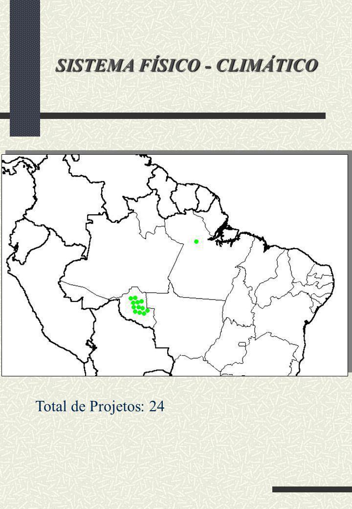 SISTEMA FÍSICO - CLIMÁTICO Total de Projetos: 24