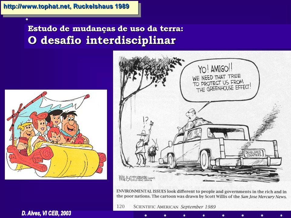 Estudo de mudanças de uso da terra: O desafio interdisciplinar Ruckelshaus 1989