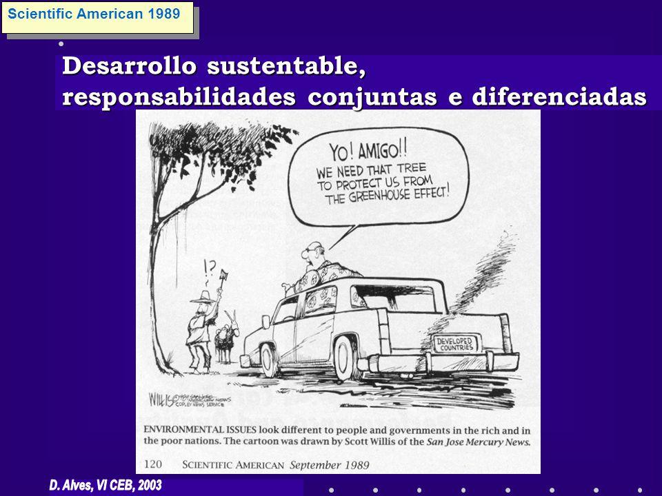 Desarrollo sustentable, responsabilidades conjuntas e diferenciadas Scientific American 1989