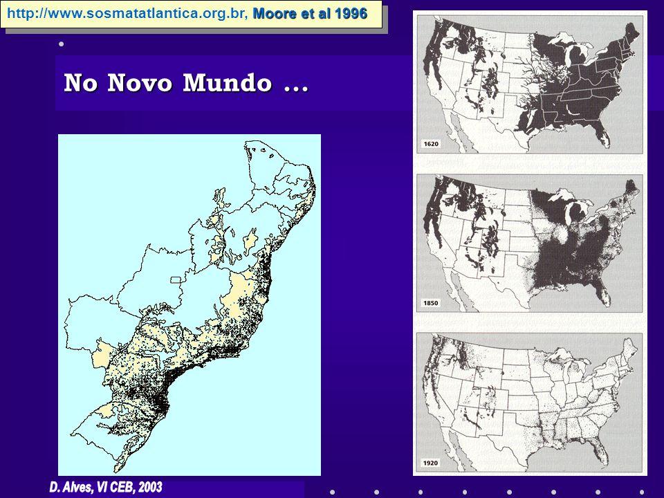Moore et al 1996 http://www.sosmatatlantica.org.br, Moore et al 1996 No Novo Mundo...