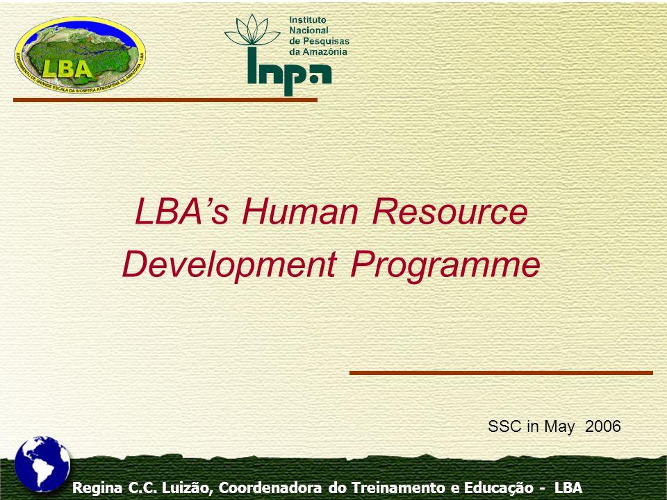 Regina C.C. Luizão, Coordenadora do Treinamento e Educação - LBA LBAs Human Resource Development Programme SSC in May 2006