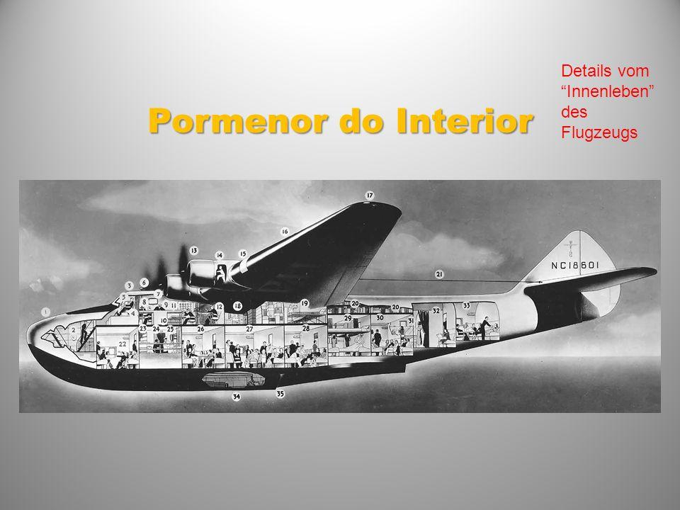 Pormenor do Interior Details vom Innenleben des Flugzeugs