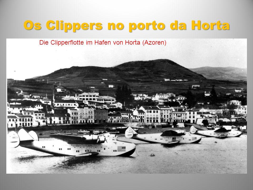 Os Clippers no porto da Horta Die Clipperflotte im Hafen von Horta (Azoren)