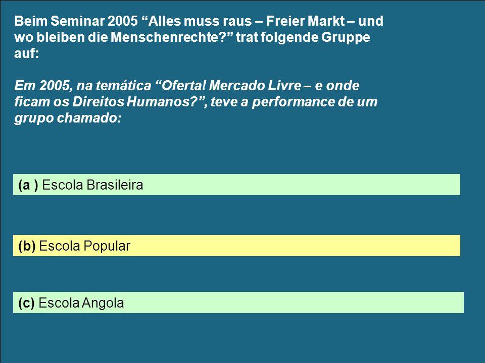 Beim Seminar 2005 Alles muss raus – Freier Markt – und wo bleiben die Menschenrechte.