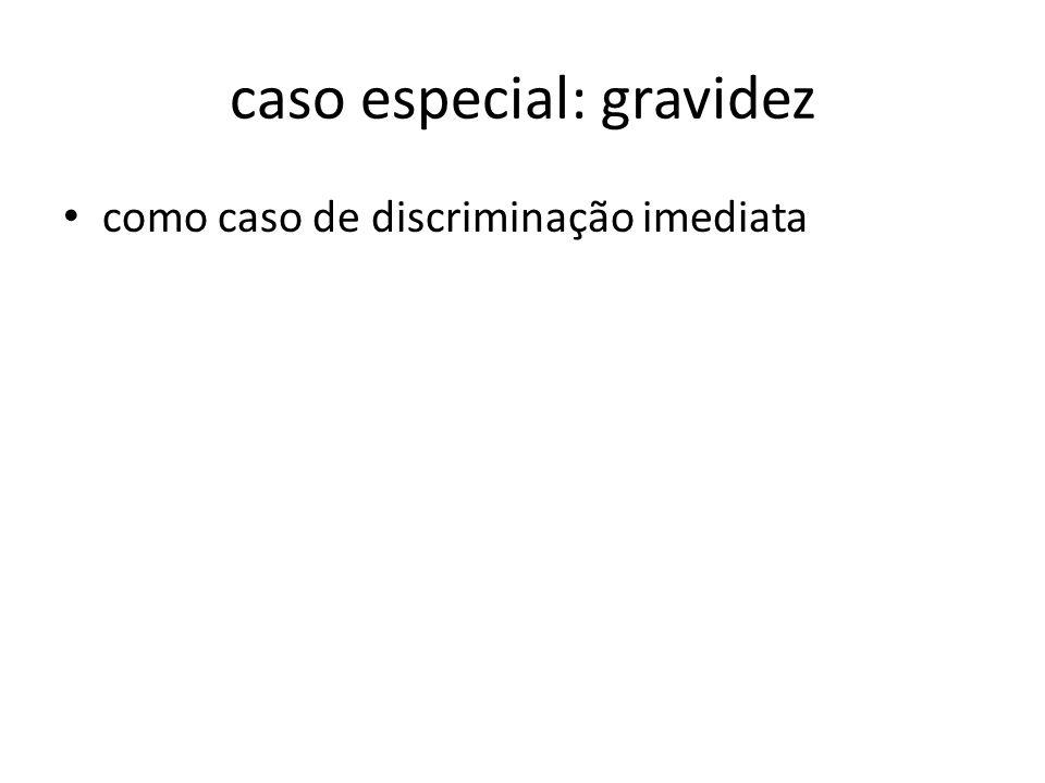 caso especial: gravidez como caso de discriminação imediata