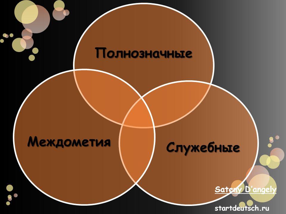 Полнозначные Служебные Междометия Sateny Dangely startdeutsch.ru