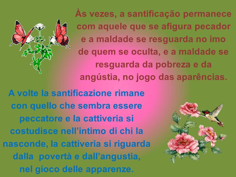 Não julgues o rico por impiedoso, nem o pobre por humilde. Non giudicare il ricco per spietato, neanche il povero per umile.