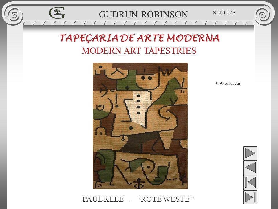 PAUL KLEE - ROTE WESTE TAPEÇARIA DE ARTE MODERNA MODERN ART TAPESTRIES 0.90 x 0.58m GUDRUN ROBINSON SLIDE 28